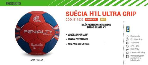 pelota de handball suecia ultra grip h1l tamaño infantil
