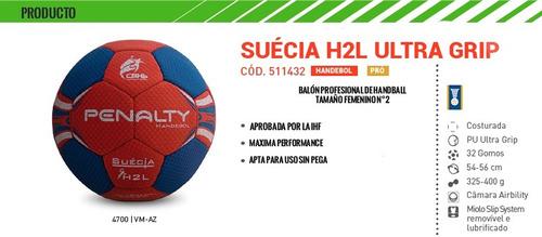 pelota de handball suecia ultra grip x 6 unidades numero 3