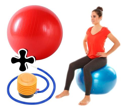 pelota de pilates 55cm aerobics fitness + inflador crazyshop