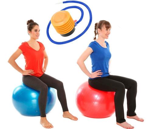 pelota de pilates 75cm fitness yoga gym + inflador crazyshop