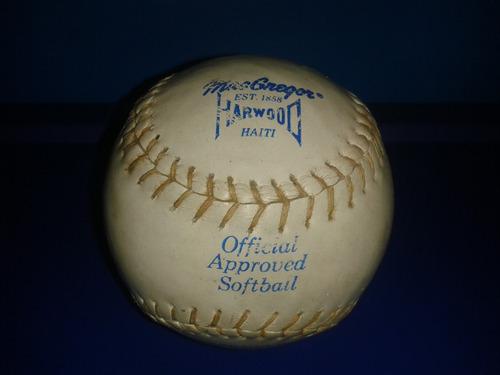 pelota de softball macgregor harwood official approved