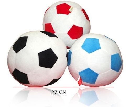 pelota de tela con sonajero futbol peluche grande 26cm 2308
