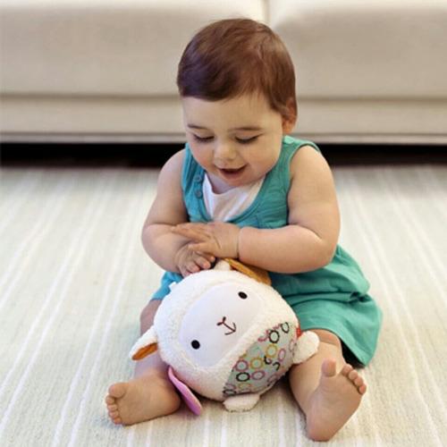 pelota de tela estimulación juguete bebé animales
