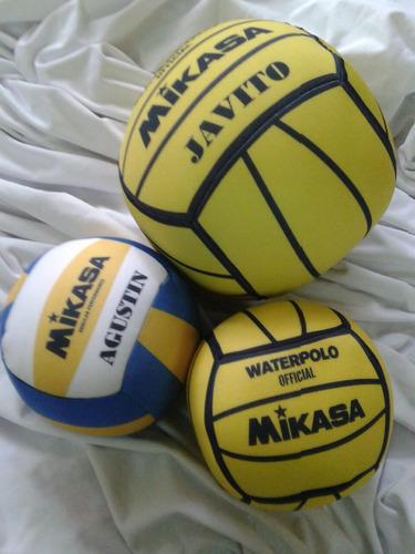 pelota de waterpolo mini personalizadas. almohadón. x10 unid