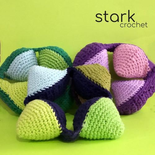 pelota didáctica y juguetes a crochet  - stark crochet
