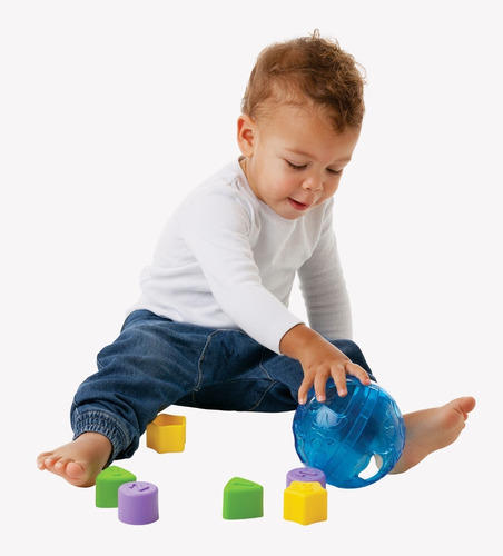 pelota encastre roll and sort ball bebe playgro educando ful