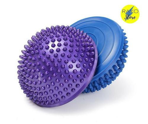 pelota erizo kit 4 unid mini bosu medio balon pie plano