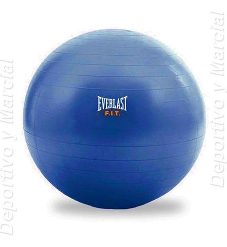 pelota esferodinamia 65 cm + inflador everlast azul