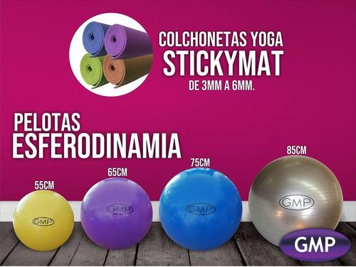pelota esferodinamia 75 cm gmp color azul + inflador