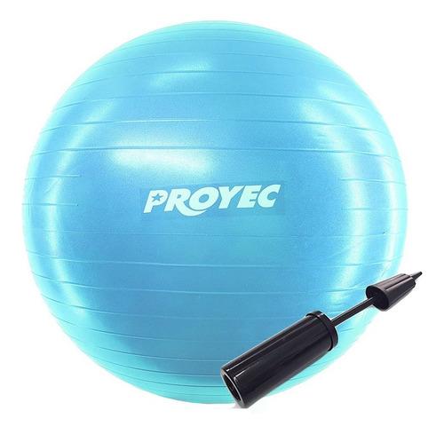 pelota esferodinamia pilates 55 cm yoga proyec + inflador
