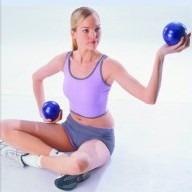 pelota esferodinamia pilates 65 cm con pinches para masajes