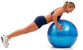 pelota esferodinamia pilates 75 cm importada color azul