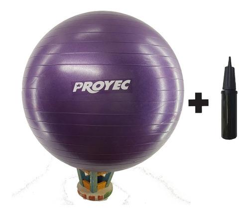 pelota esferodinamia pilates 75 cm yoga proyec + inflador