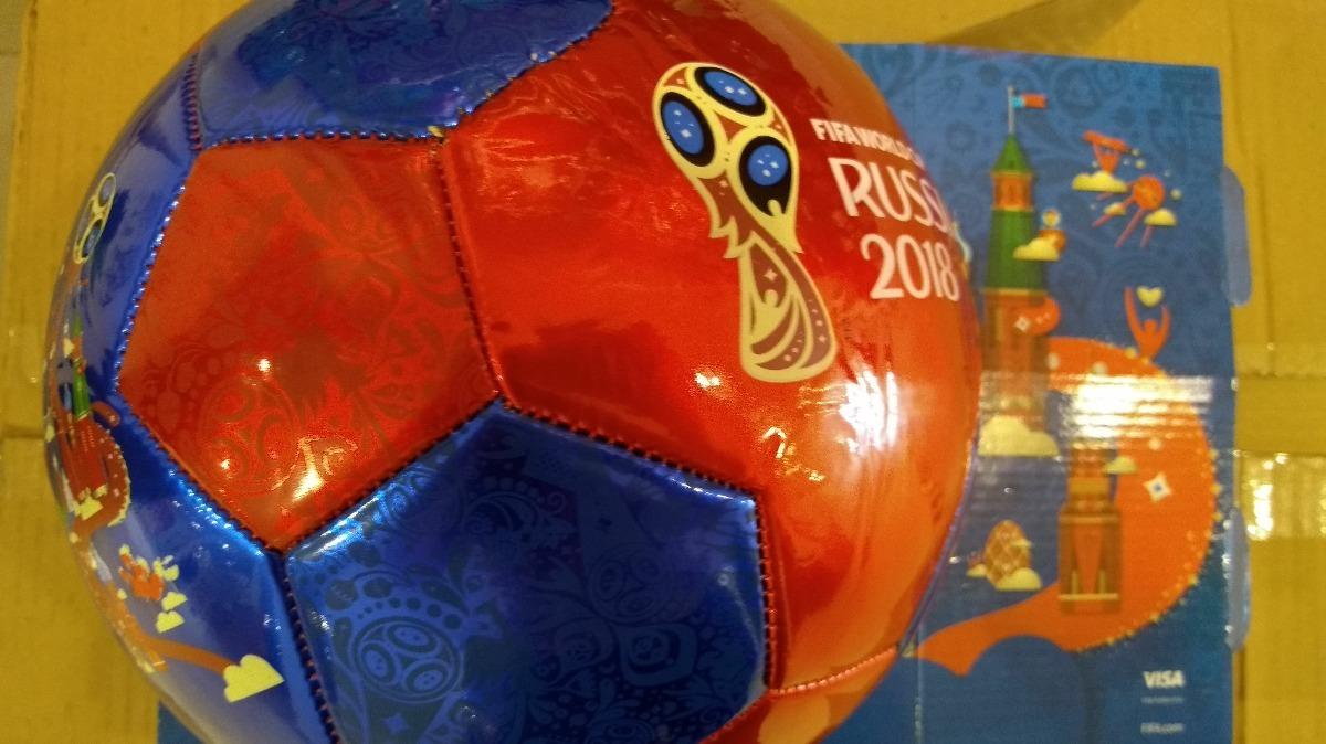 Pelota Fifa World Cup Russia 2018 Roja Y Azul Tamaño 5 - S  58 2fc415067567b