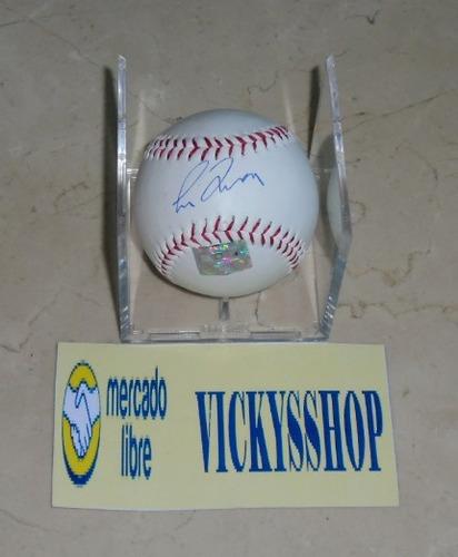 pelota firmada por greg maddux con certificado bravos cubs
