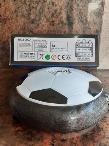 pelota flotante y con luces, diseño futbol