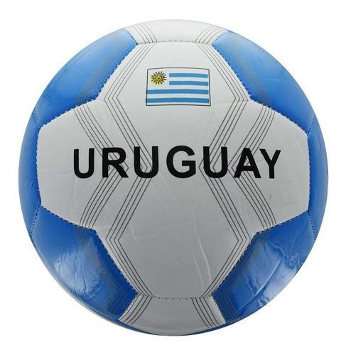 pelota futbol n°2 uruguay cuero brilloso c/banderas 237