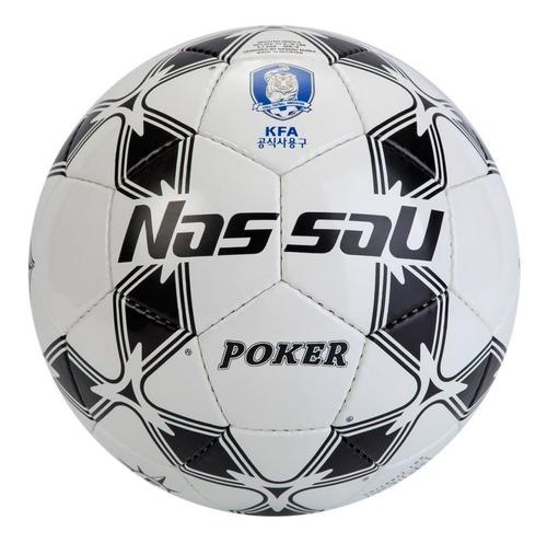 pelota futbol nassau poker numero 5 entrenamiento pvc balon