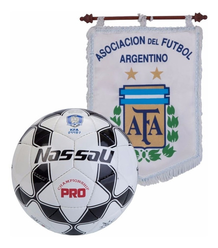 pelota futbol nassau pro championship profesional cosida n°5 campo