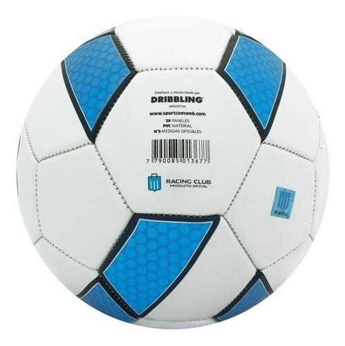 pelota futbol racing club n° 5 drb infantil lic oficial niño