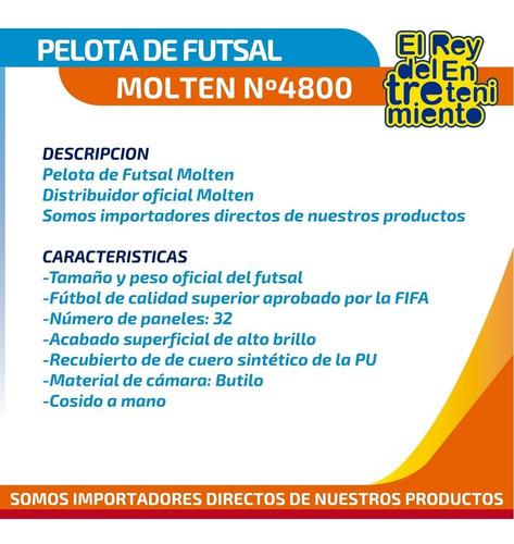 pelota futsal molten 4800 original fútbol profesional el rey