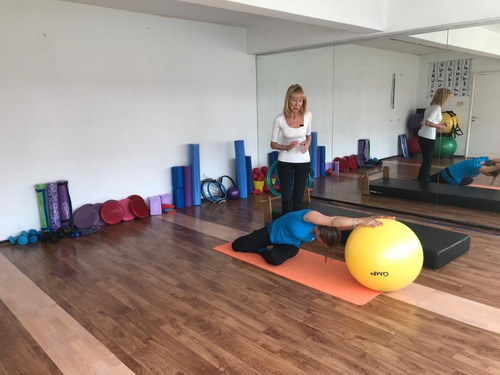 pelota gmp 55 cm amarilla esferodinamia pilates yoga