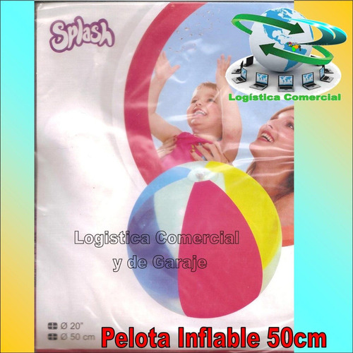 pelota inflable 50 cm diametro marca splash de colores