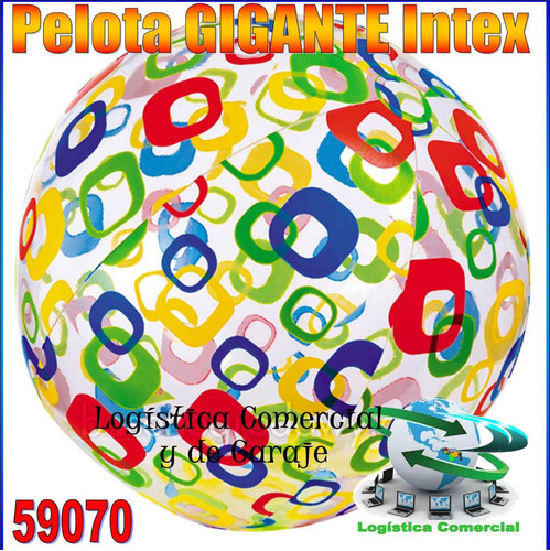pelota inflable gigante intex 122cm 59070 para piscina playa