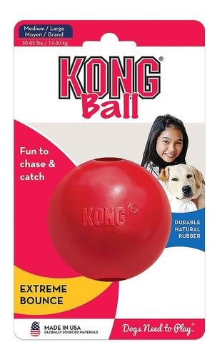 pelota kong classic medium / large 13-30 kg perros juguetes