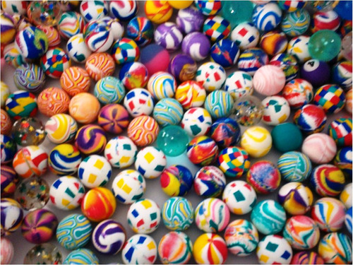 pelota loca de 27 mm maquinas chiclera vending botona niños
