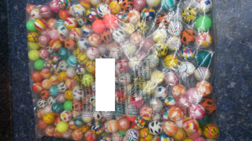 pelota loca saltarina 27mm para chicleras 250 piezas