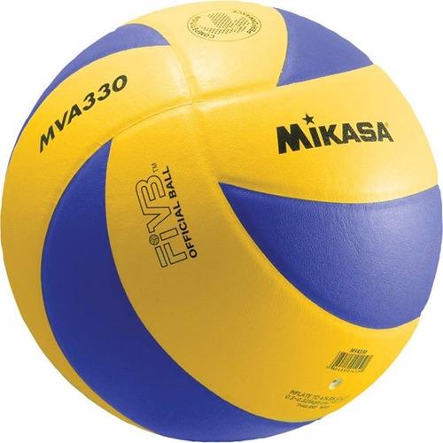 pelota mikasa mva330 voley oficial fivb cuero tratado volley