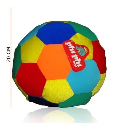 pelota multicolor 20cm phi phi toys