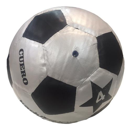 pelota papi nº 4 y n° 3 medio pique cuero vacuno baby futbol
