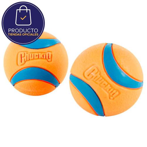 pelota para perro chuckit! 17001 set x 2 unidades-naranja co