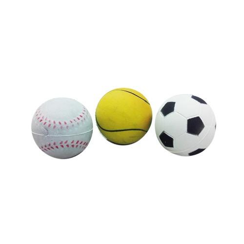 pelota para perros con estetica deportes 63mm