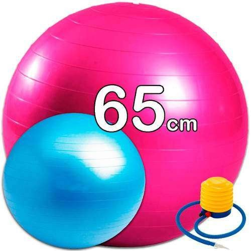 Pelota Pilates 65cms.+ Inflador Terapia 843b9504ab63