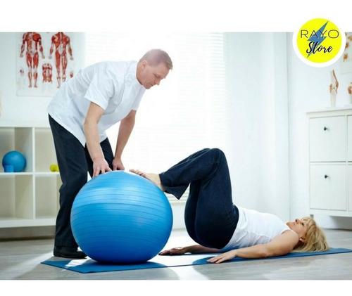 pelota pilates yoga 45cm+inflador terapia maternid san borja