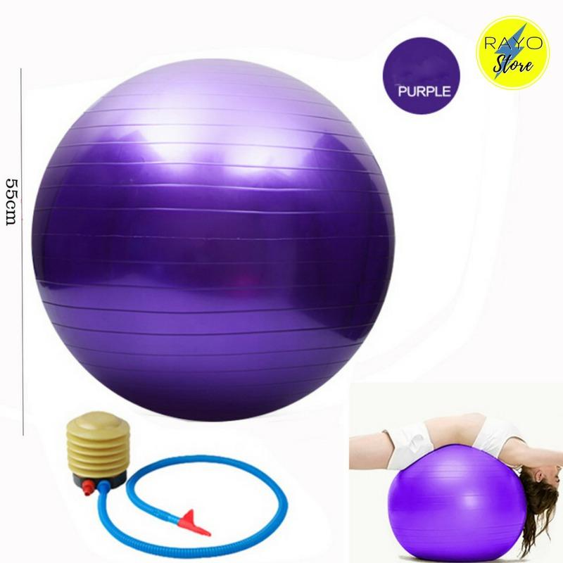 Pelota Pilates Yoga 55 Cm + Inflador Para Pilates Terapia - S  34 05abb9ffe213