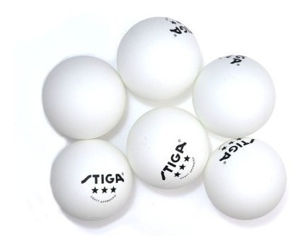 pelota ping pong stiga cup blanco 6 pelotas dk tiendas