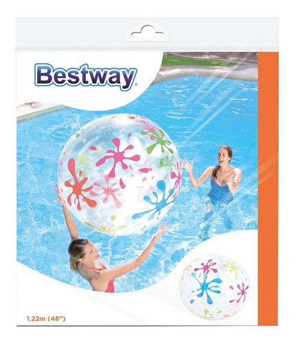 pelota playera inflable para pileta y playa  splash & play