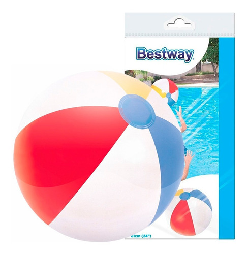 pelota playera inflable playa y pileta clasica grande promo!
