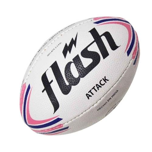 pelota rugby flash attack numero 4 original guinda importada