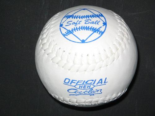 pelota softbol aztlan 6 piezas oficial reglamentaria pelotas