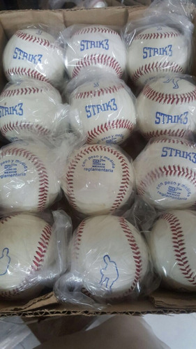 pelota strike beisbol piel 12 piezas strik 3 strik3 aztlan
