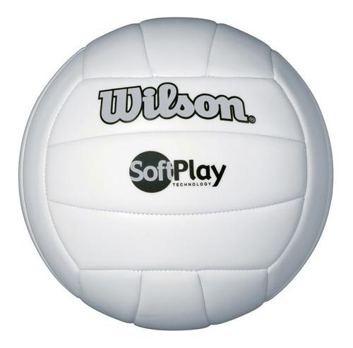 pelota unisex wilson - soft play volleyball  blanco - voley