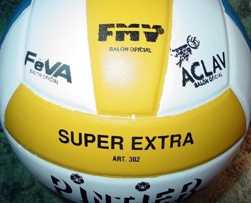 daa52f83ef101 Pelota Voley Pintier Super Cuero Vaca Tricolor Oficial -   1.699
