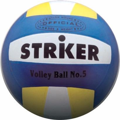 pelota  voley striker n° 5 blanca y tricolor beach volley