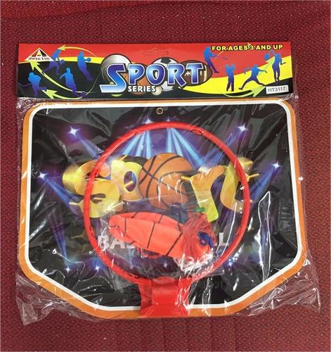 pelota y aro de basket basquet infantil juego para  niños