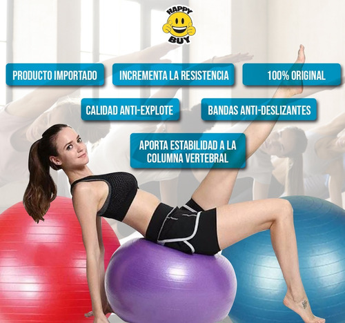 pelota yoga ball esferodinamia suiza 65 cm gym pilates new!!